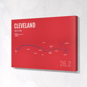 Cleveland Marathon Map Print - Personalized for 2020