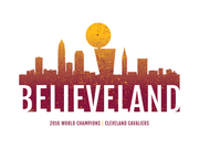 Believeland Cleveland Cavs Poster