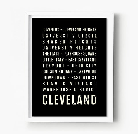 Boston Neighborhoods Subway Poster