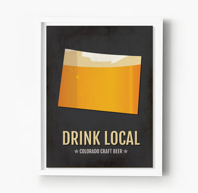 Colorado Beer Print Map