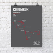 Columbus Marathon Map Print - Personalized for 2020