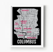 Columbus Ohio Neighborhood City Map