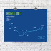 Honolulu Marathon Map Print - Personalized for 2020
