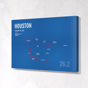 Houston Marathon Map Print - Personalized for 2020