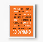 Houston Dynamo Subway Poster