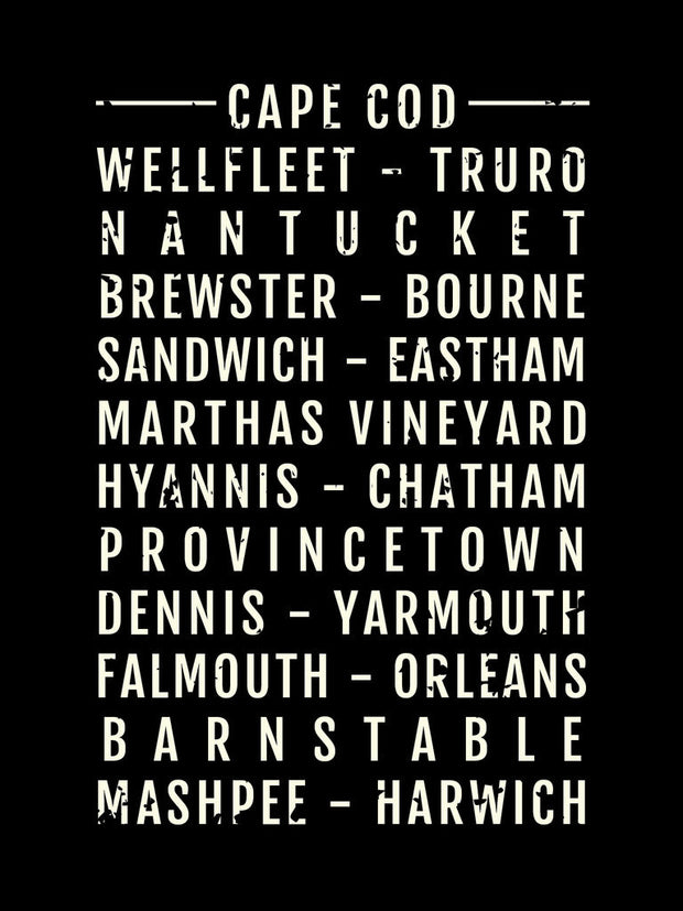 Cape Cod Neighborhoods Subway Poster