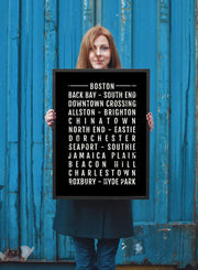 Boston Print - Neighborhoods - Subway Poster