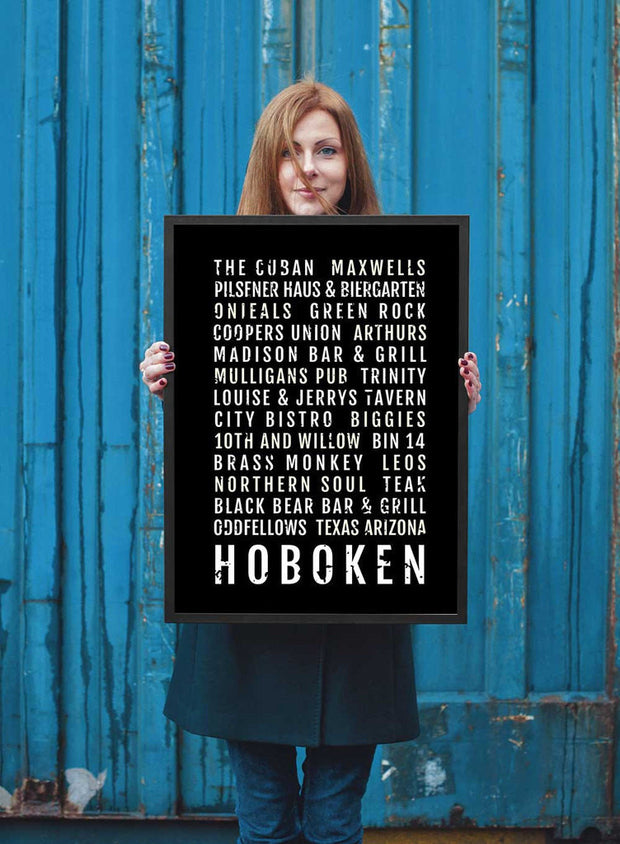 Hoboken Print - Restaurants And Bars - Subway Poster