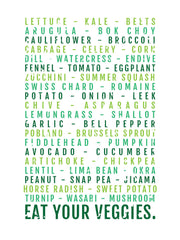 Eat Your Veggies Subway Poster