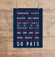 New England Patriots Subway Poster