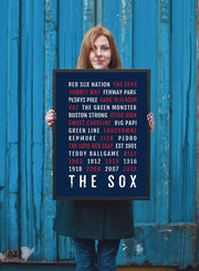 Boston Red Sox Print - Go Sox - Subway Poster