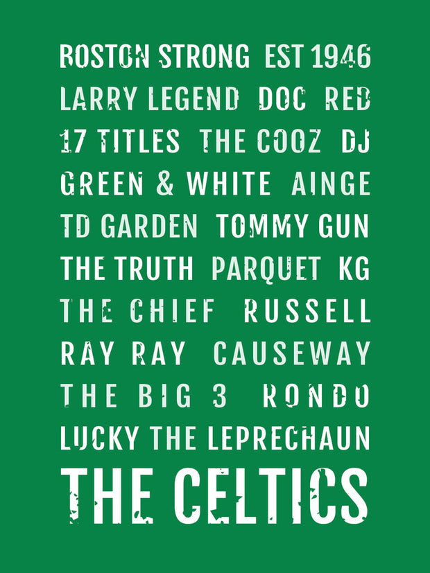 Boston Celtics Subway Poster