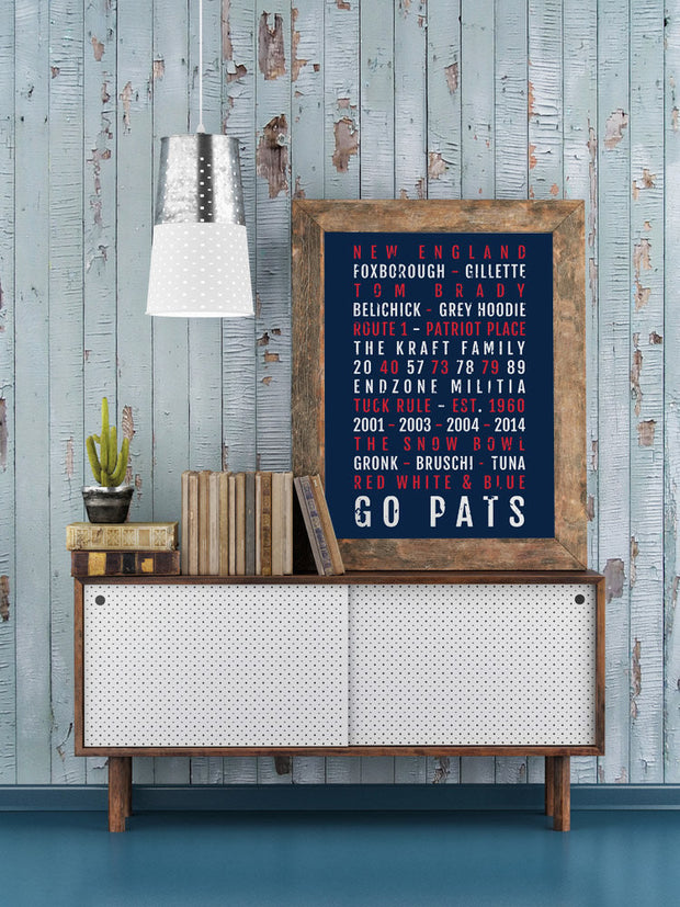 New England Patriots Print - Pats - Subway Poster