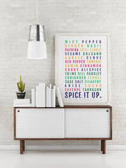 Kitchen Poster - Spice It Up - Foodie - Subway Poster