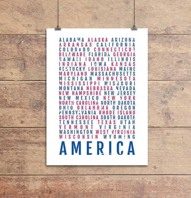America's 50 States Subway Poster