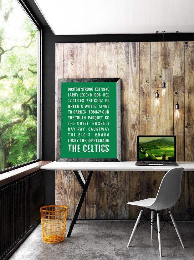 Boston Celtics Print - C's Boston Garden - Subway Poster
