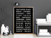 Wine Print - Kitchen - Home Bar - Subway Poster