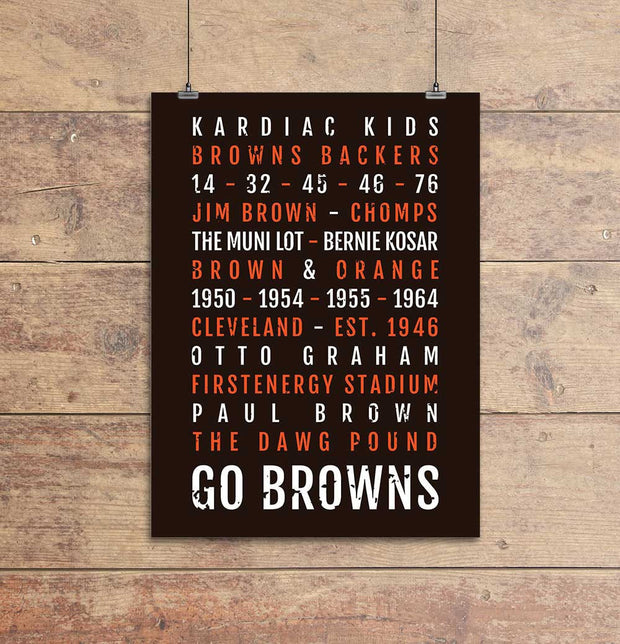 Cleveland Browns Subway Poster