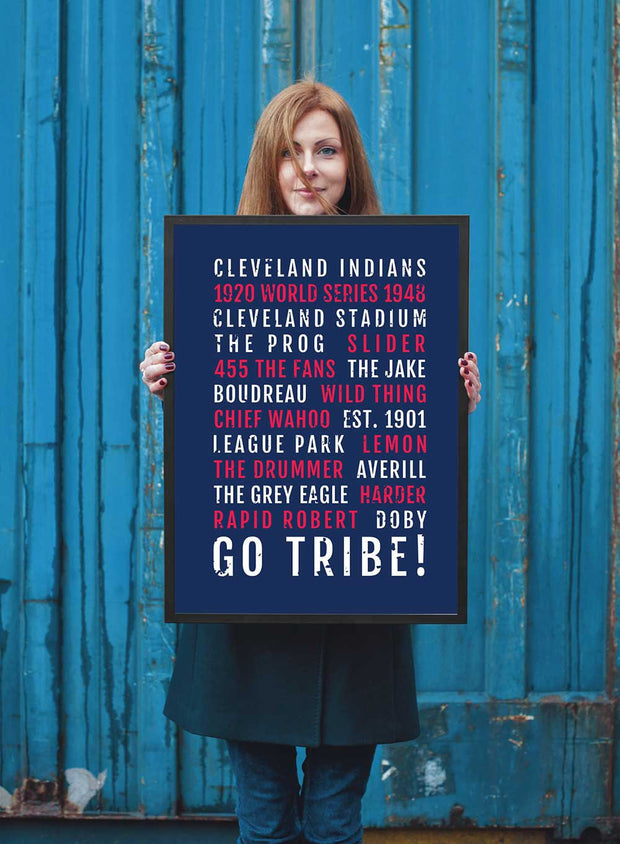 Cleveland Indians Print - Tribe - Ohio Subway Poster