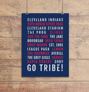 Cleveland Indians Subway Poster