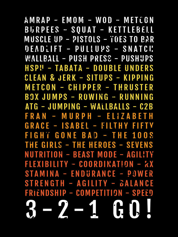 Crossfit 3-2-1 GO Subway Poster