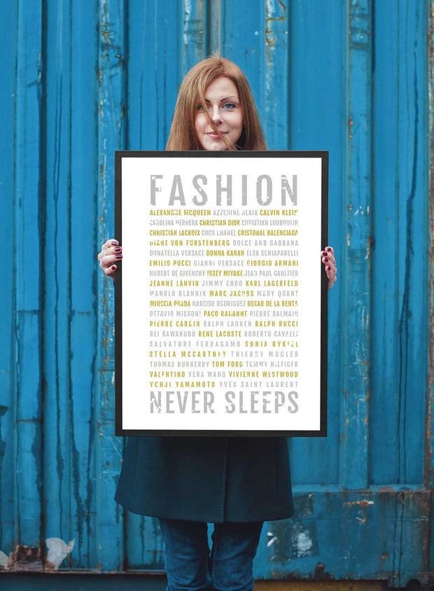 Fashion Print - Designers - Subway Poster