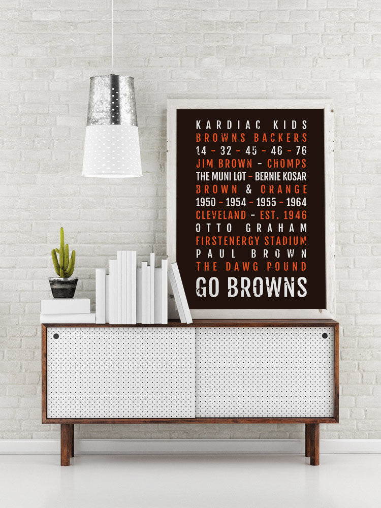 Cleveland Browns Print - Dawg Pound - Ohio Subway Poster