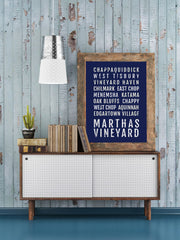Martha's Vineyard Print - Neighborhoods - Subway Poster