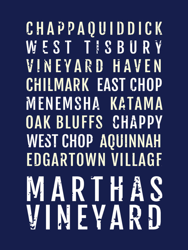Martha's Vineyard Subway Poster
