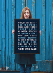 Ski Poster - New England Ski And Skiing - Subway Poster
