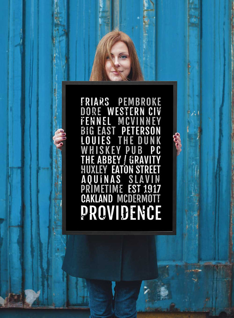 Providence College Friars Print - PC Friar - Subway Poster
