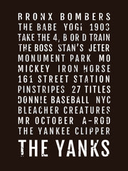 New York Yankees Subway Poster