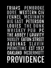 Providence College Friars Subway Poster