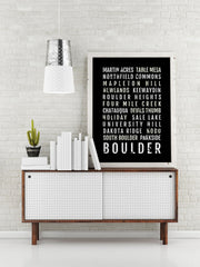 Boulder Print - Neighborhoods - Subway Poster