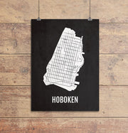 Hoboken Neighborhoods City Map