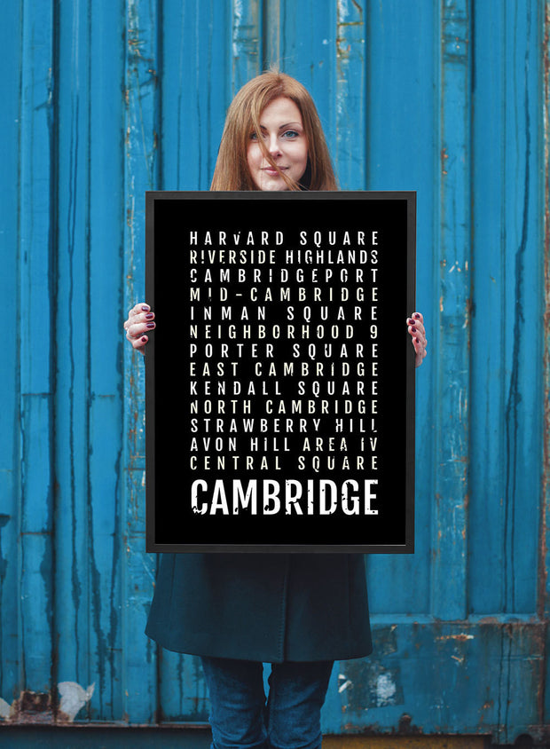 Cambridge Print - Neighborhoods - Subway Poster
