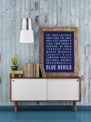 Duke Blue Devils Print - Duke University Basketball - Subway Poster