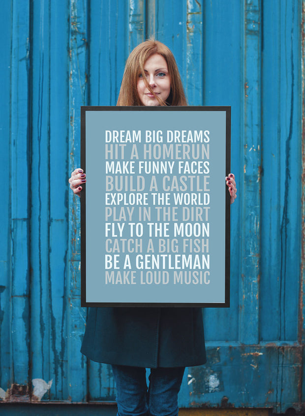 Boy's Rules Nursery Art Print - Baby Boy Poster
