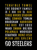 Pittsburgh Steelers Subway Poster