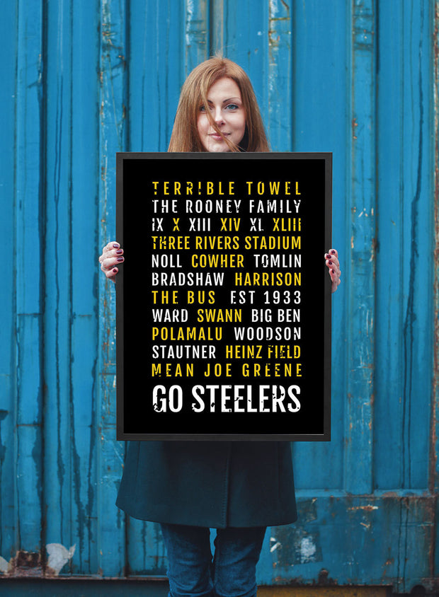 Pittsburgh Steelers Print - Steeler - Subway Poster