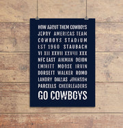 Dallas Cowboys Subway Poster