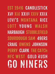 San Francisco 49ers Subway Poster