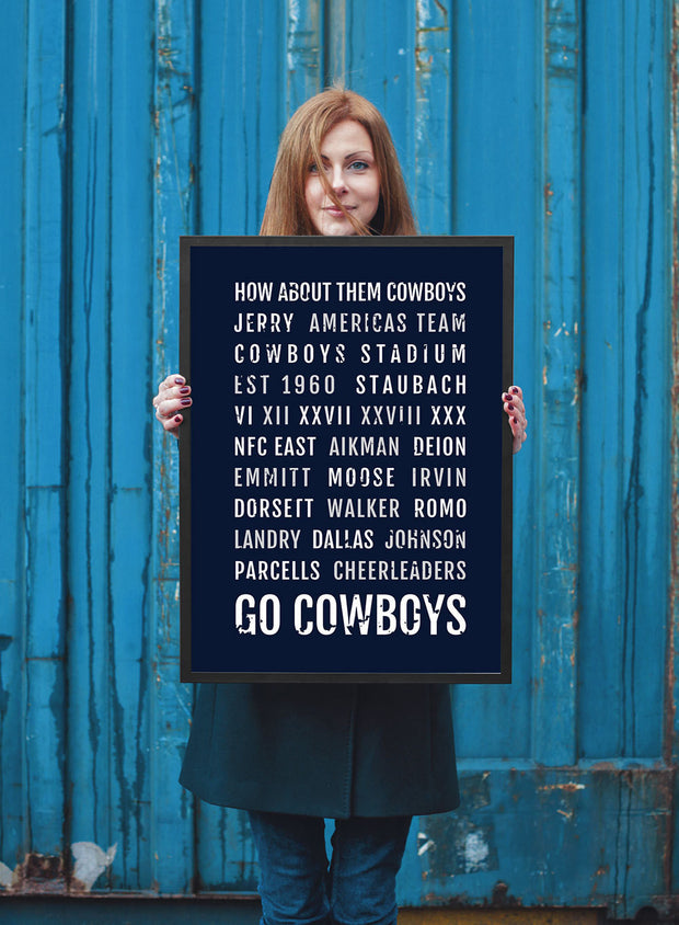 Dallas Cowboys Print - Cowboy - Subway Poster