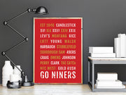 San Francisco 49ers Print - SF Niners - Subway Poster