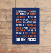 Denver Broncos Subway Poster