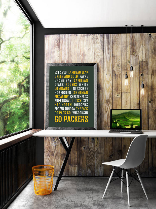 Green Bay Packers Print - GB Packer - Subway Poster