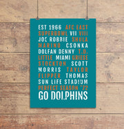 Miami Dolphins Subway Poster