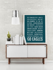 Philadelphia Eagles Print - Philly Subway Poster