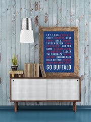 Buffalo Bills Print - Bills Fan - Subway Poster