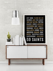 New Orleans Saints Print - NO - Subway Poster